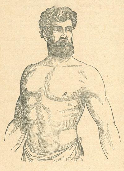 Athletischer (starker) Brustbau
