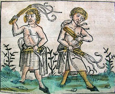 Mittelalterliche Flagellanten Holzschnitt